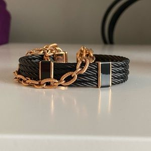 Charriol black and rose gold tone bracelet